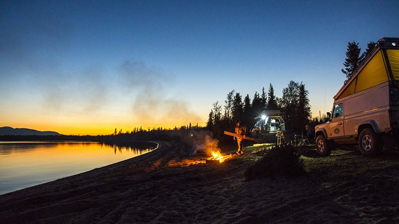 aurora boreal acampando