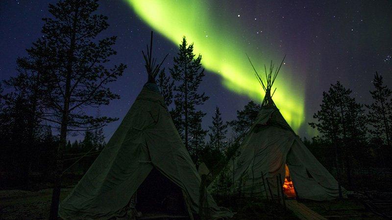 por fin la aurora boreal